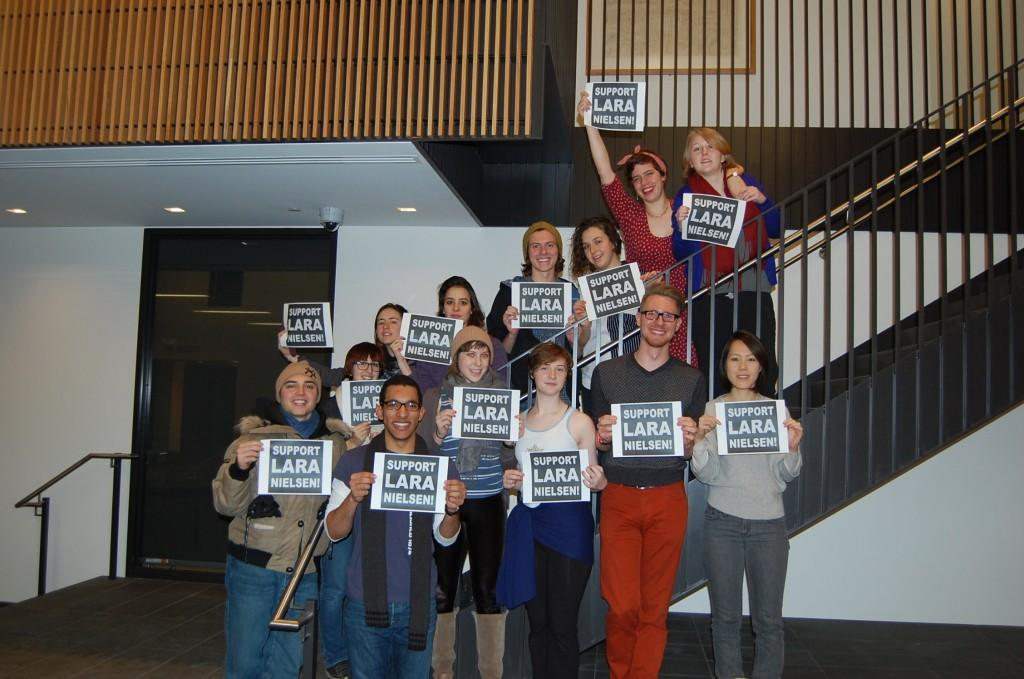 Students support Lara Nielsen's tenure appeal