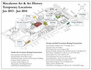 Temporary Art Campus Map