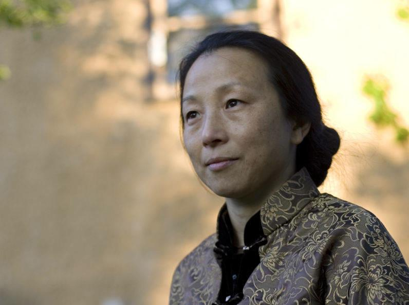 Wang Ping teaches creative writing in the English department. Photo: Macalester College /Sara Rubinstein