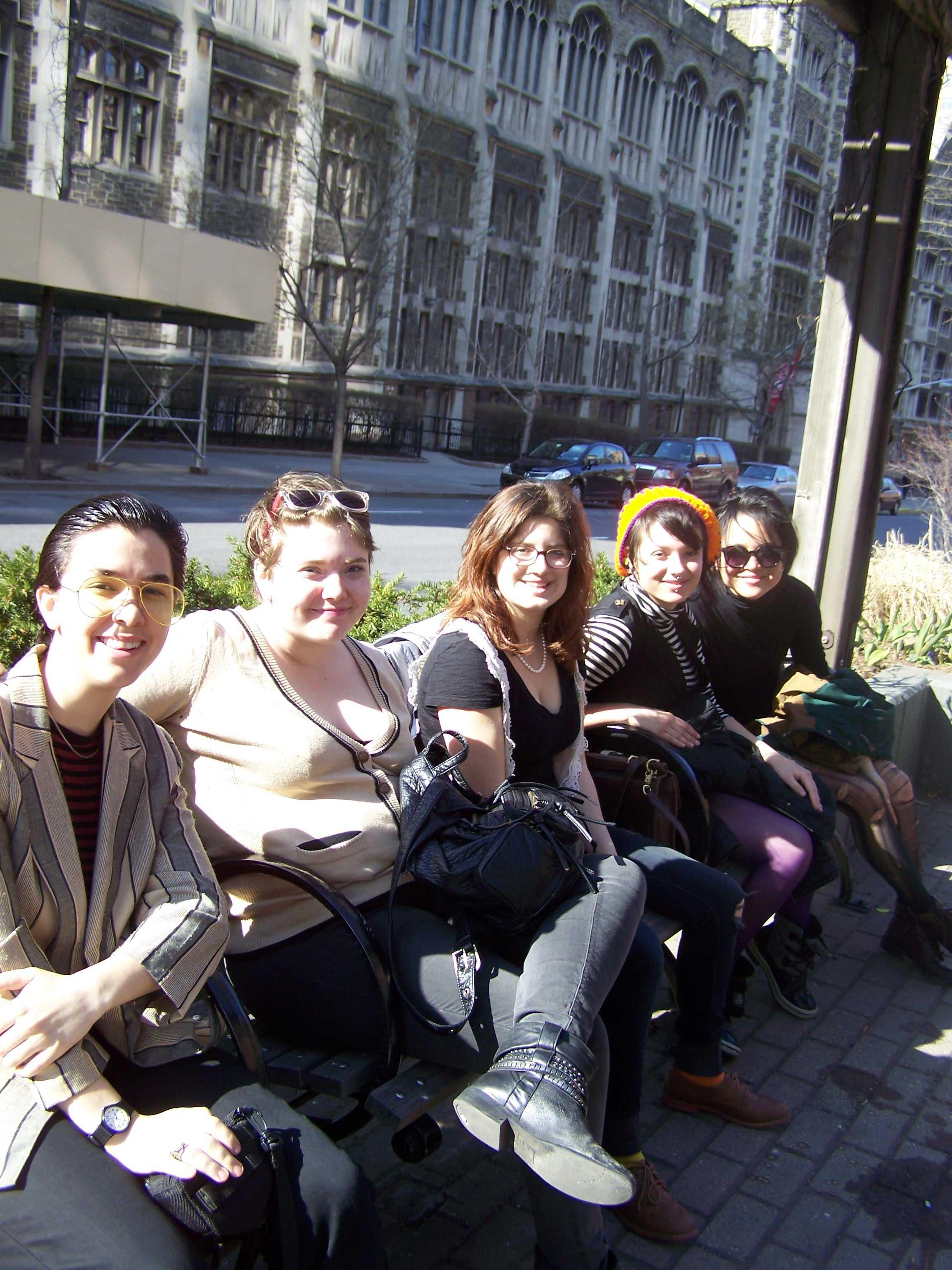 Niko Martell '13, Anna Binkovitz '14, Abbie Shain '14,  Renee Schminkey '16 and Rachel Rostad '15 at CUPSI. Photo courtesy of Niko Martell.