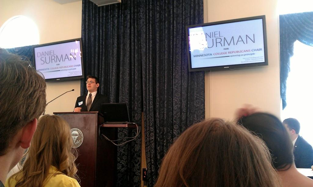 Surman loses college GOP chair bid