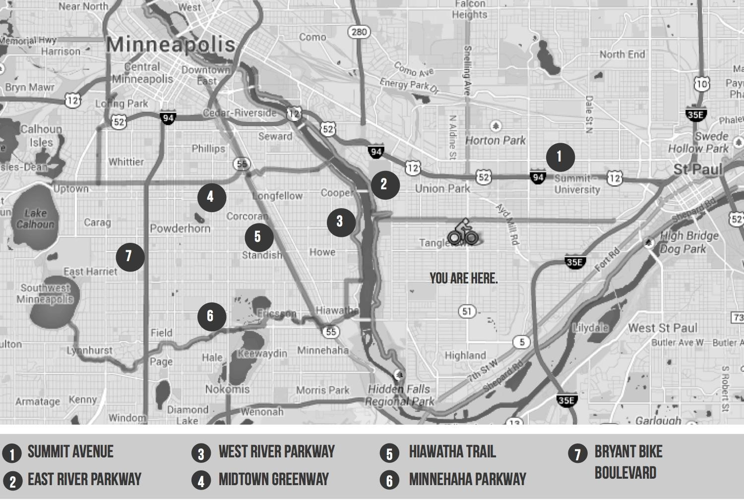 Psyched About Cycling: The roads most traveled by, Bikeways in the Twin Cities