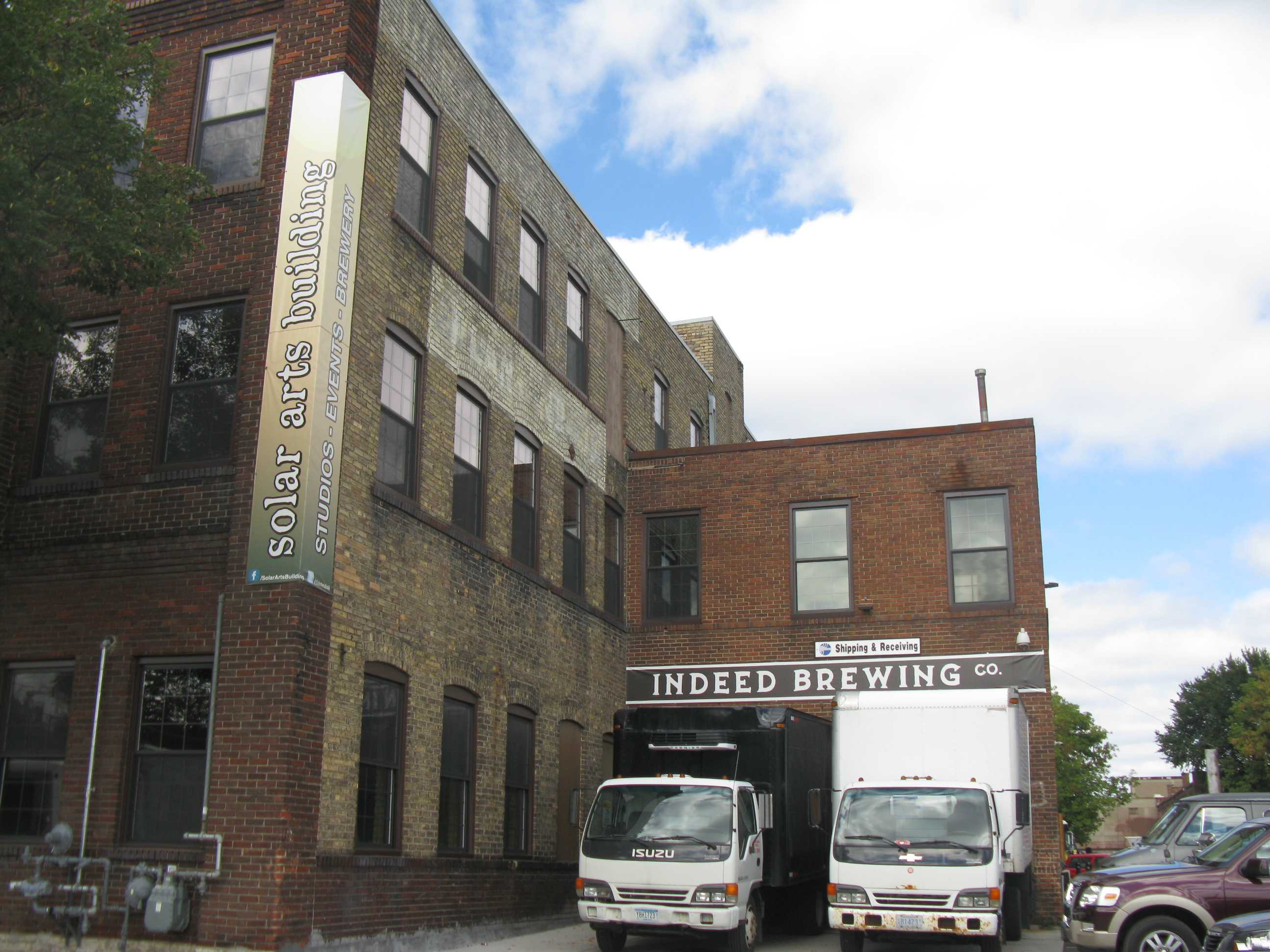Outside Indeed Brewing Company which is located inside an old warehouse. Photo by Rachel Quay '14.