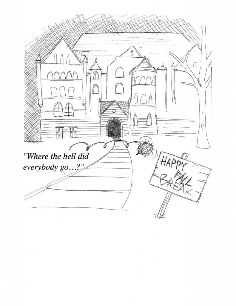 Happy Fall Break Cartoon!