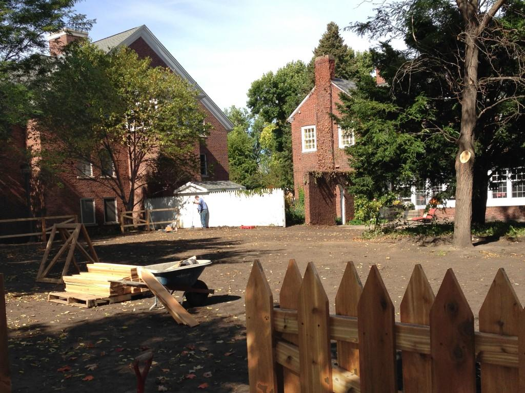 Alumni House backyard expanded: New setup will accommodate larger events