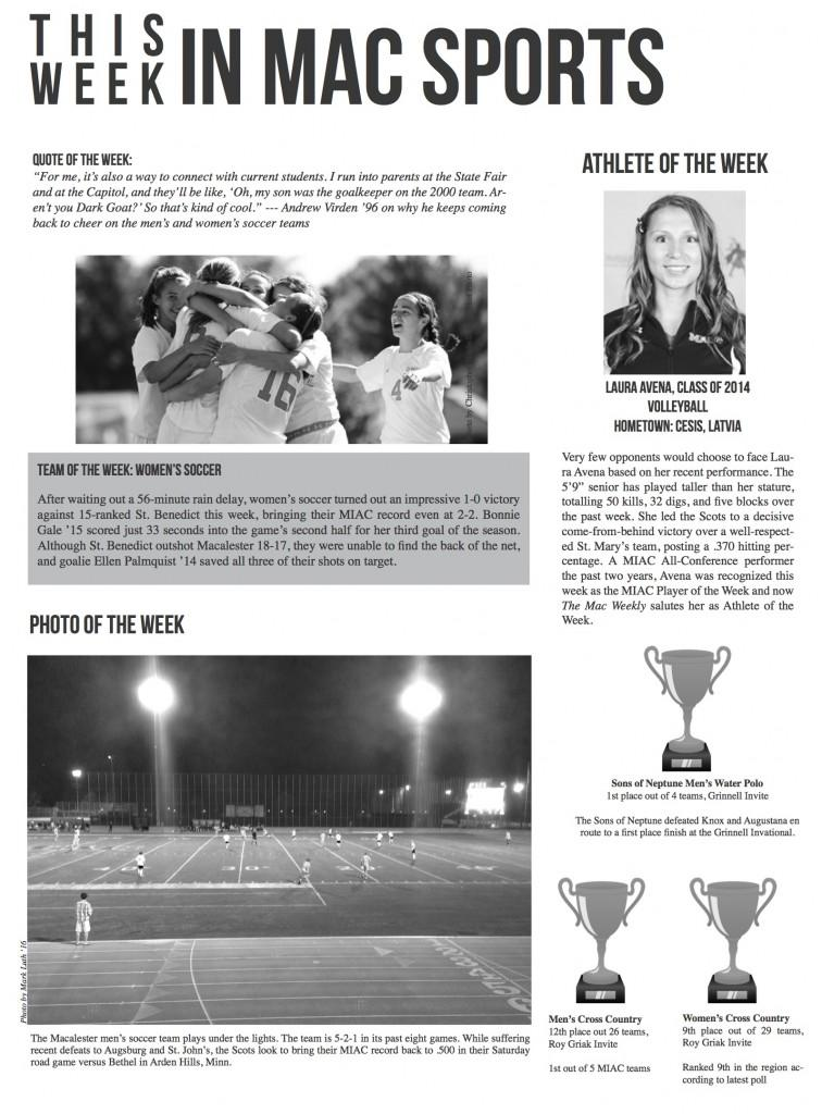 This Week In Mac Sports: Week of October 4