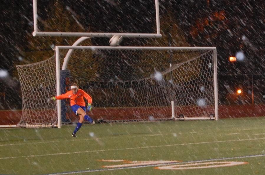 Snowout. Blowout: Women's soccer dominates Oles 5-0: One win from MIAC title, Nationals