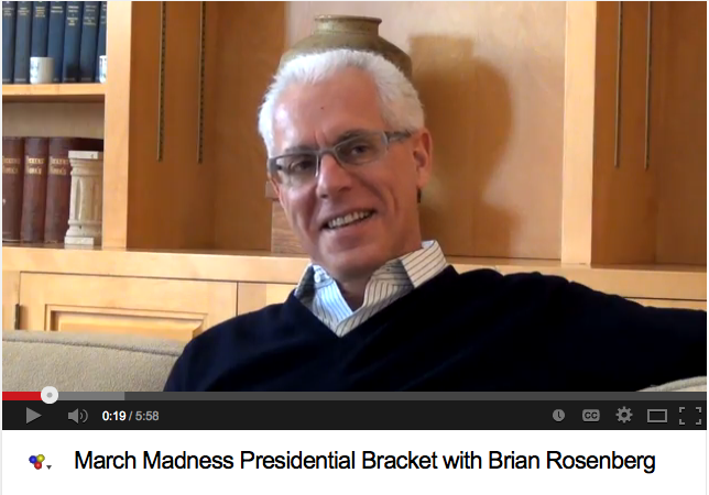 March Madness Presidential Bracket with Brian Rosenberg