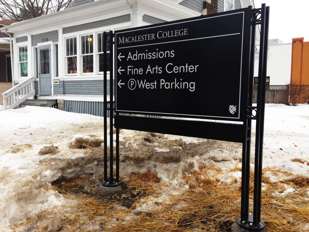 Wayfinding signs arrive on campus