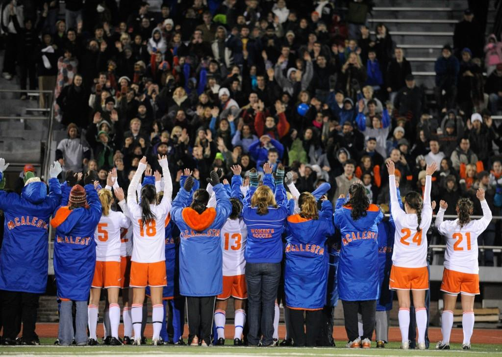 2009 Macalester Women Soccer host Saint Scholastica in the first round of the 2009 NCAA Soccer Playoffs  Photo by Christopher Mitchell / Sport Shot Photo For more information, contact info@sportshotphoto.com