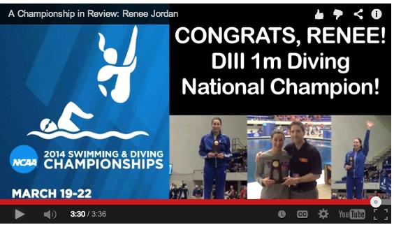 Macalester Honors National Champion Renee Jordan