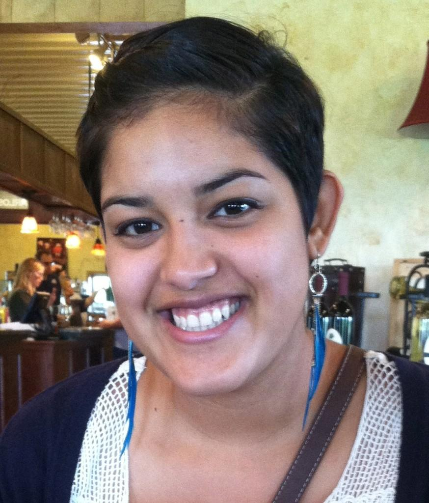 Jocelyne Cardona '14 was recently awarded Macalester's Global Citizen Student Award. She is about to graduate and now reflects on her experience as a first-generation college student at Macalester. Photo courtesy of Jocelyne Cardona '14.