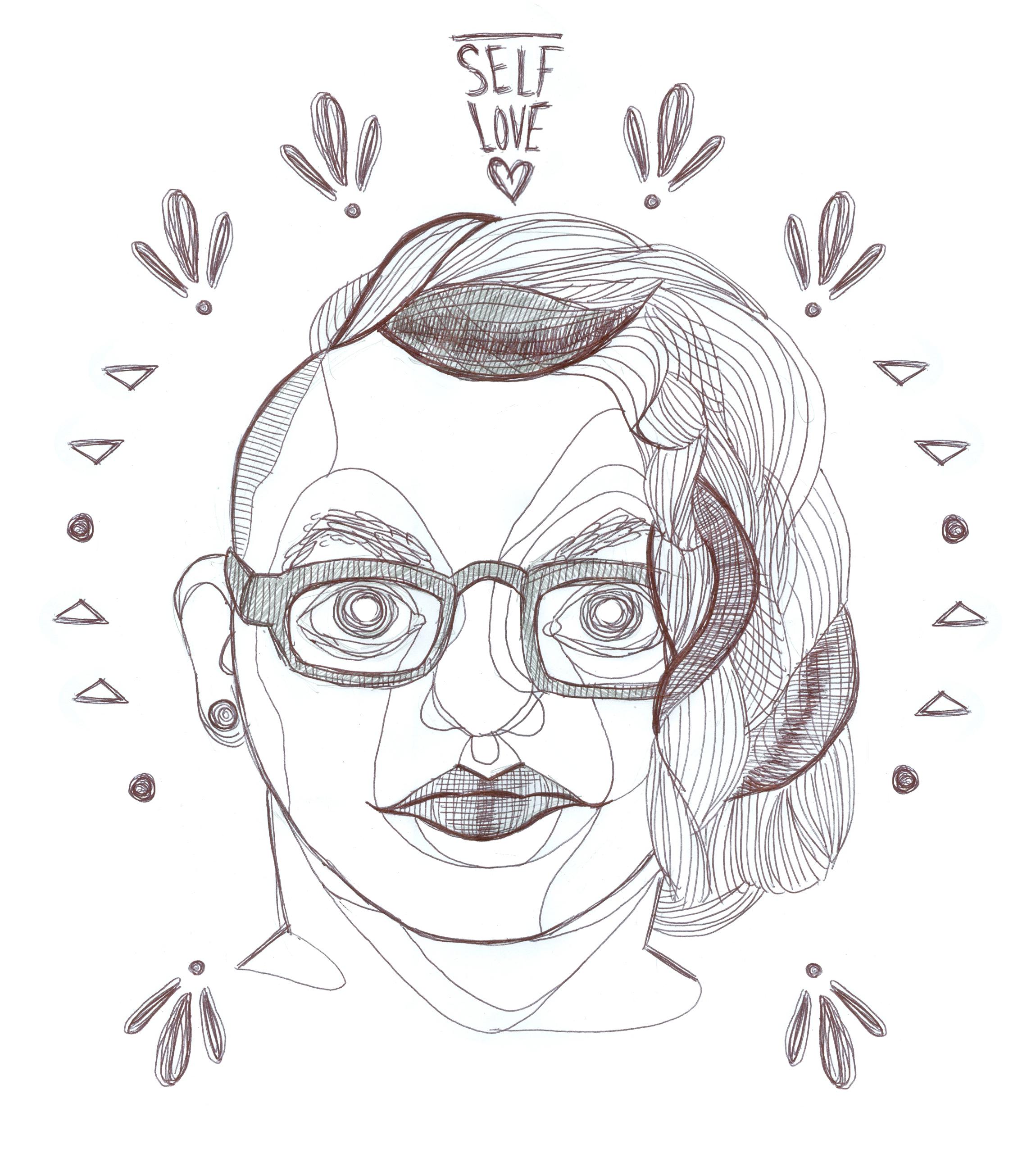 Ariel Estrella's self-portrait