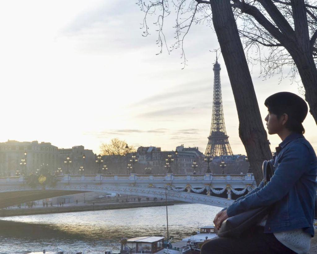 Bautista in Paris. Photo courtesy of Lexii Carrillo'15.