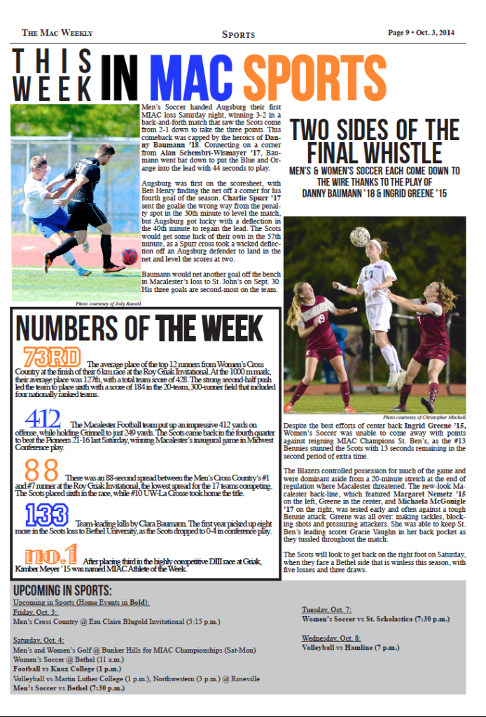 This Week in Mac Sports – 10/3/14