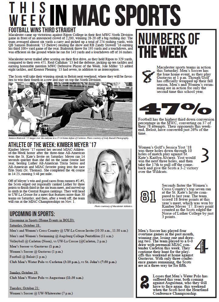 This Week in Mac Sports | 10/17/14
