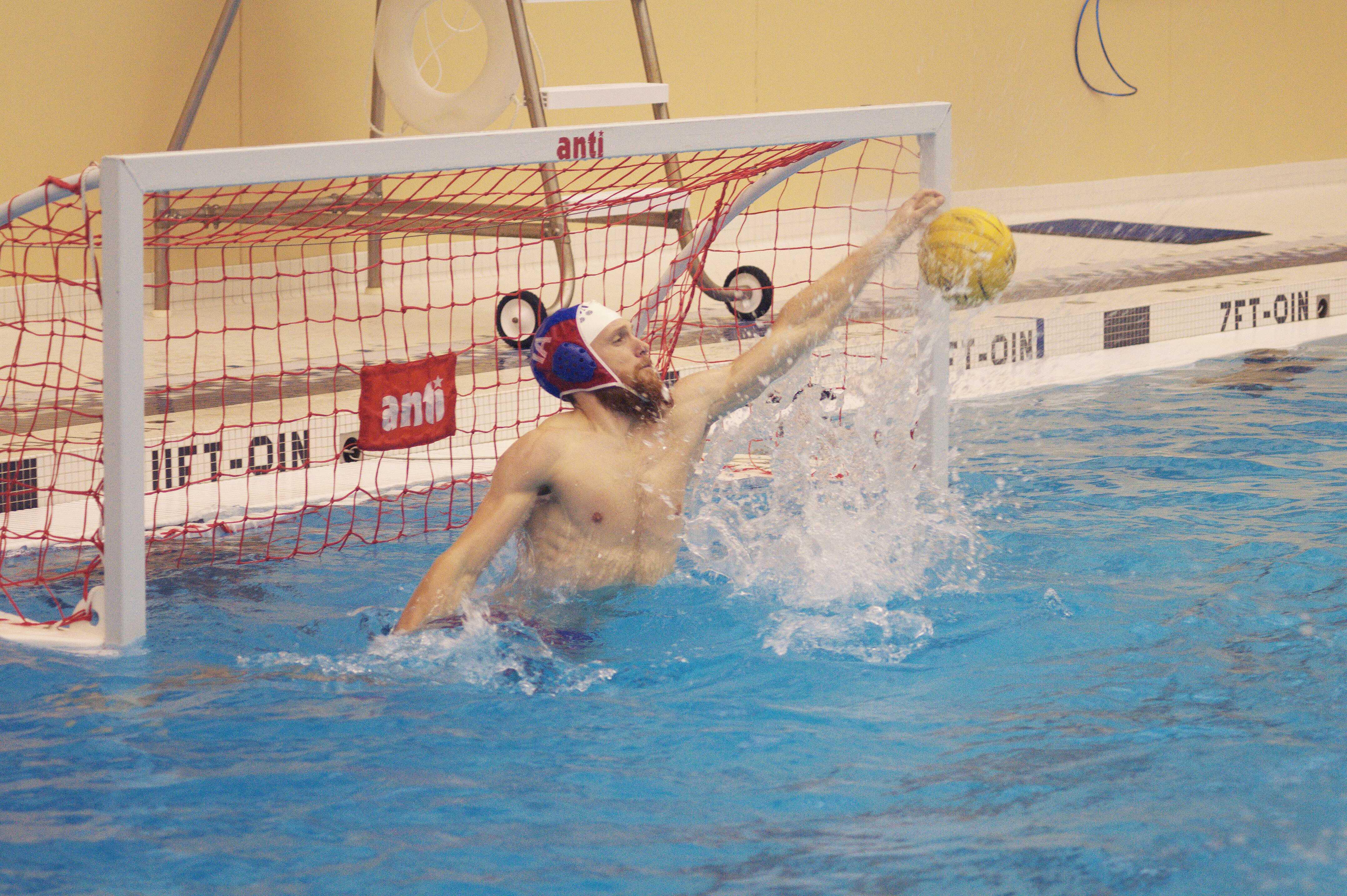 Co-captain Simon Sanggaard'15 defends the goal. Photo courtesy of Jenny Charlesworth.