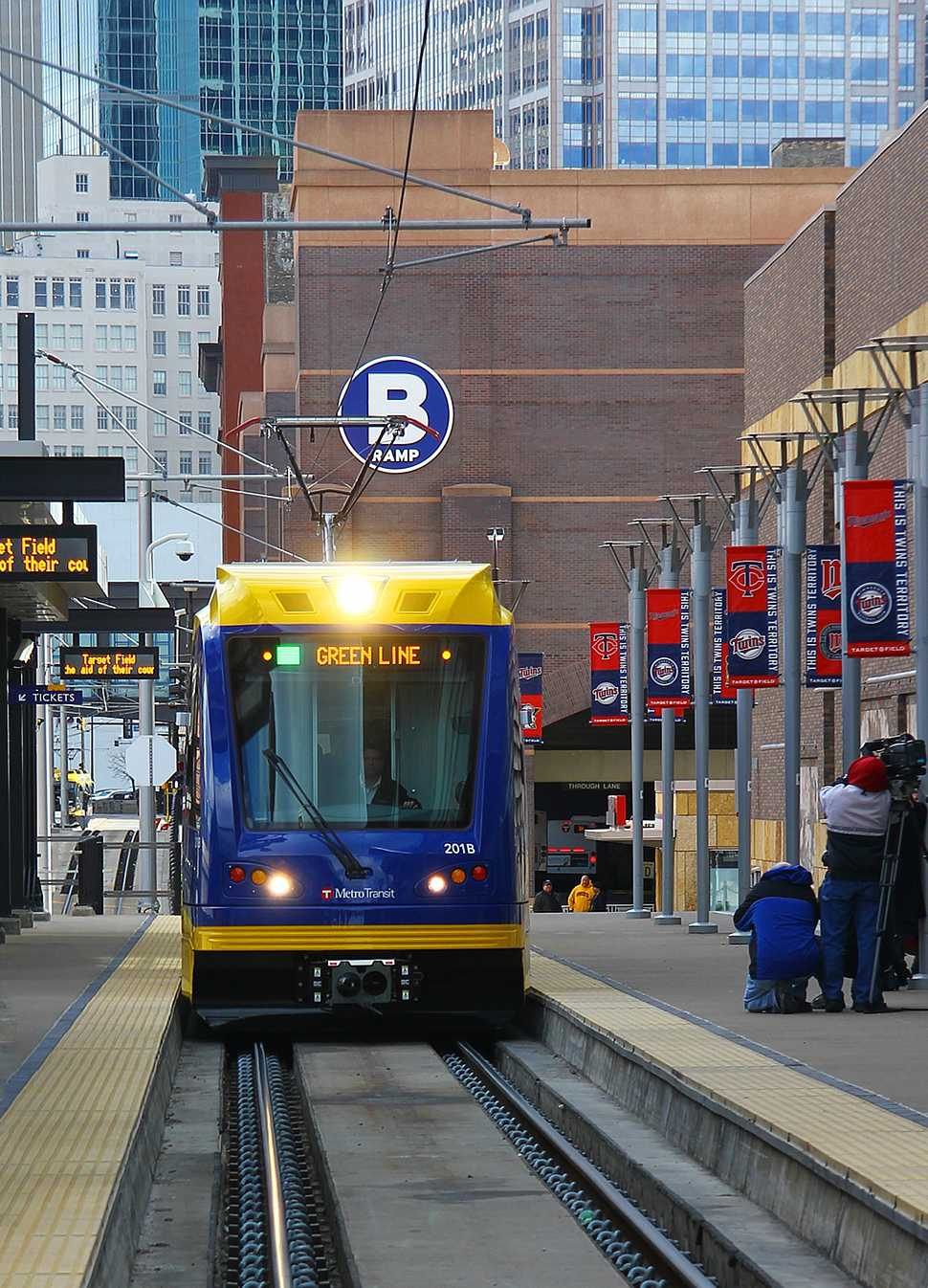 Catch the Green Line at the corner of University and Snelling Ave. Photo courtesy of Wikipedia via Creative Commons.