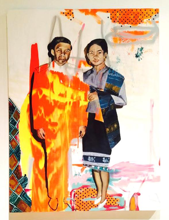 """The Vine Art Center in Minneapolis, site of """"Refuge of the InvisiLao: A Visual Essay."""" The exhibit, on display January 10-24, highlighted art and photos from Lao-American artists in the Twin Cities. Photos courtesy of Minju Kim '18"""