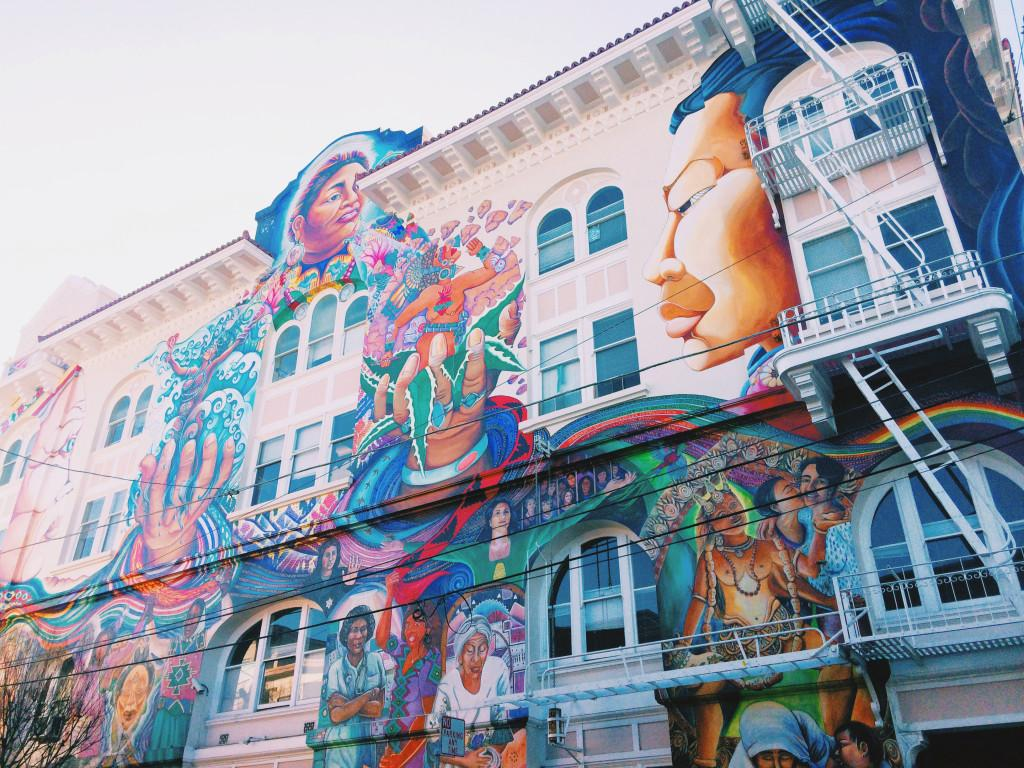 A+colorful+mural+on+the+side+of+a+building+in+The+Mission.++Photo+by+Joe+Huber%2715.