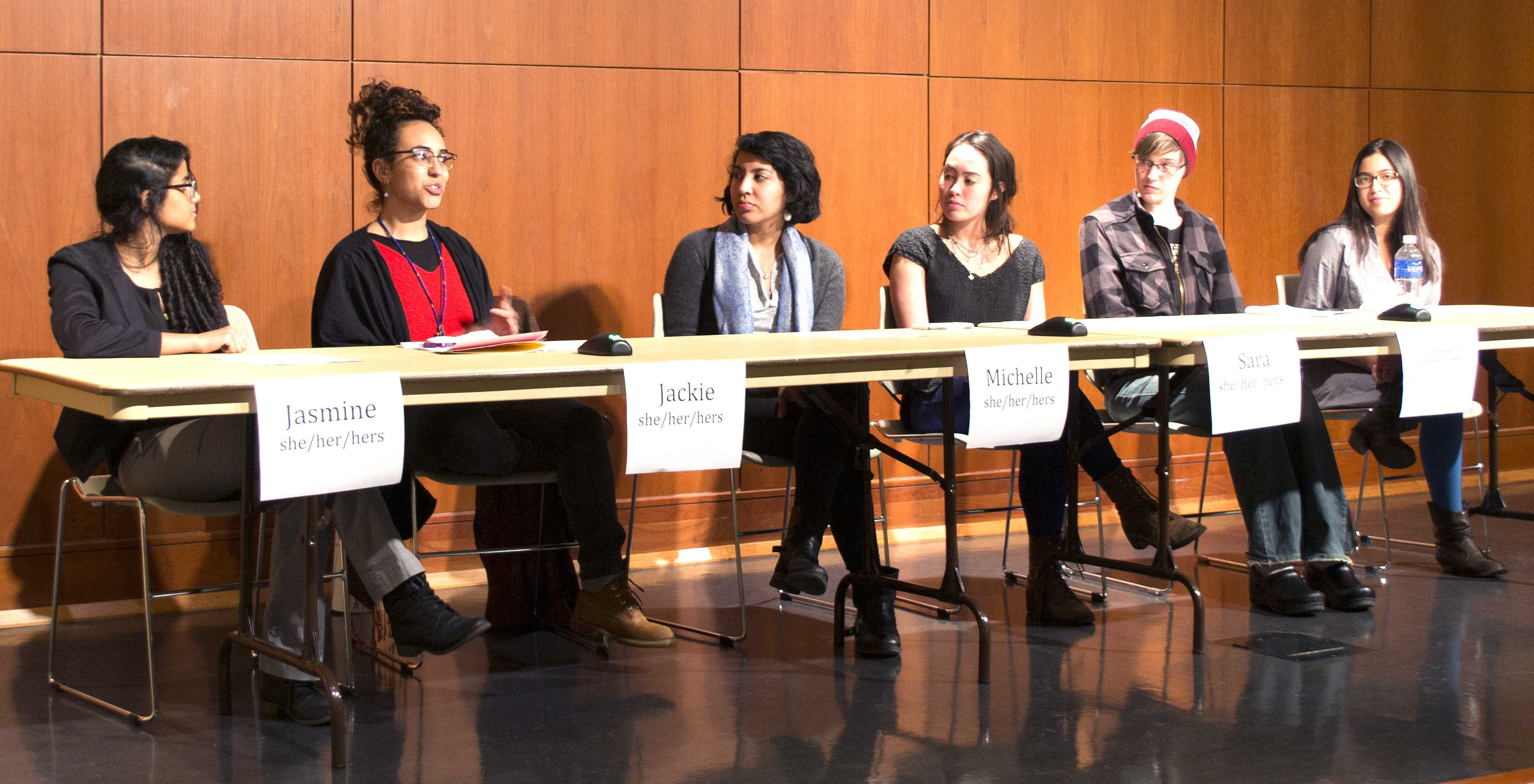 Mactivists for Reproductive Justice held their third annual Menstrual Health Panel Tuesday. The panel featured student speakers, as well as two professionals. Photo by Steph Shimota '17