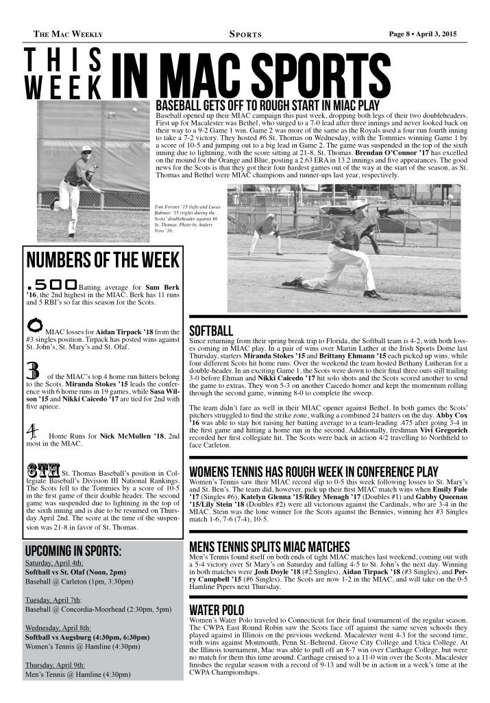 This Week in Mac Sports: 4/3/15