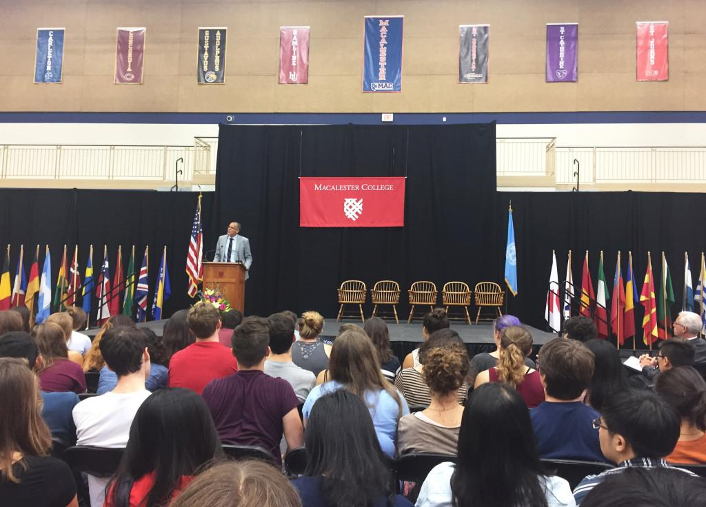 Yale professor James Forman Jr. speaks at Convocation