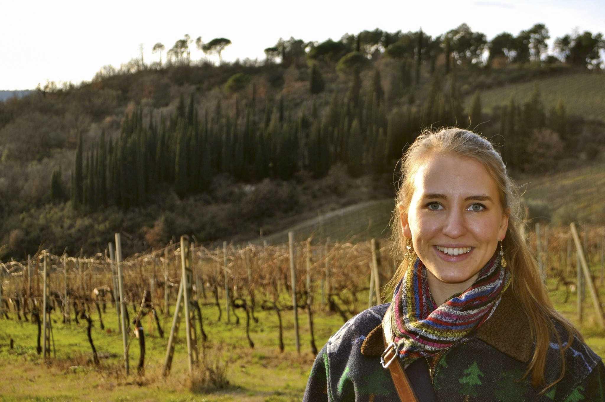 Photo of Ariana Zaia '16 studying abroad in Italy. Photo courtesy of Nicole Smith.