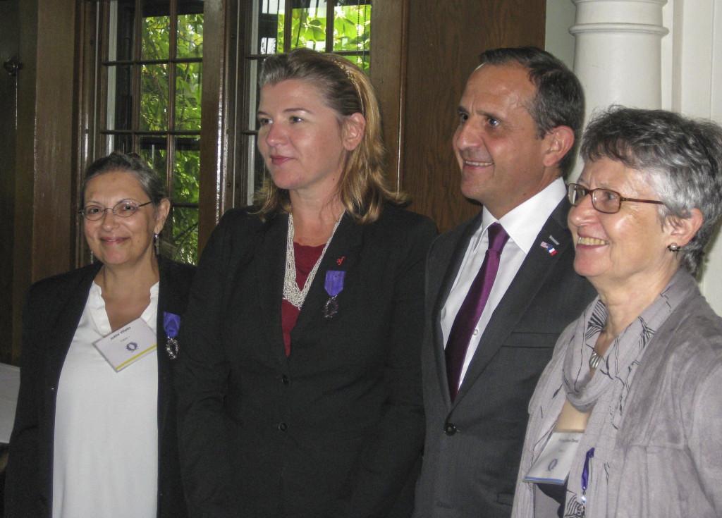 Joëlle Vitiello and Françoise Denis receive prestigious Palmes Académiques award