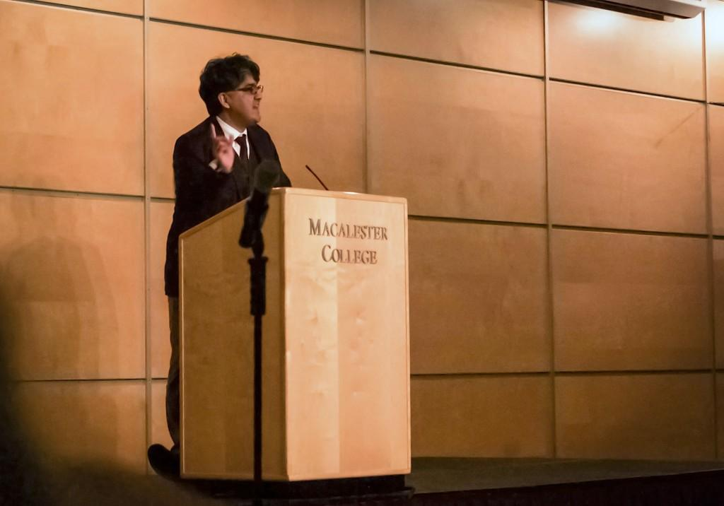 Sherman+Alexie+addresses+the+crowd+Monday+night+in+Kagin+Ballroom.+Though+his+poems+were+viscerally+emotional%2C+the+anecdotes+he+shared+in+between+had+the+whole+room+laughing%E2%80%94sometimes+at+themselves.+This+performance+seemed+to+be+its+own+form+of+poetry%3B+as+Alexie+put+it%2C+%22that%27s+how+we+%5BNative+Americans%5D+deal+with+pain%3A+we+laugh+at+it.%22%0A%2APhoto+by+Max+Guttman+%E2%80%9916.+%2A