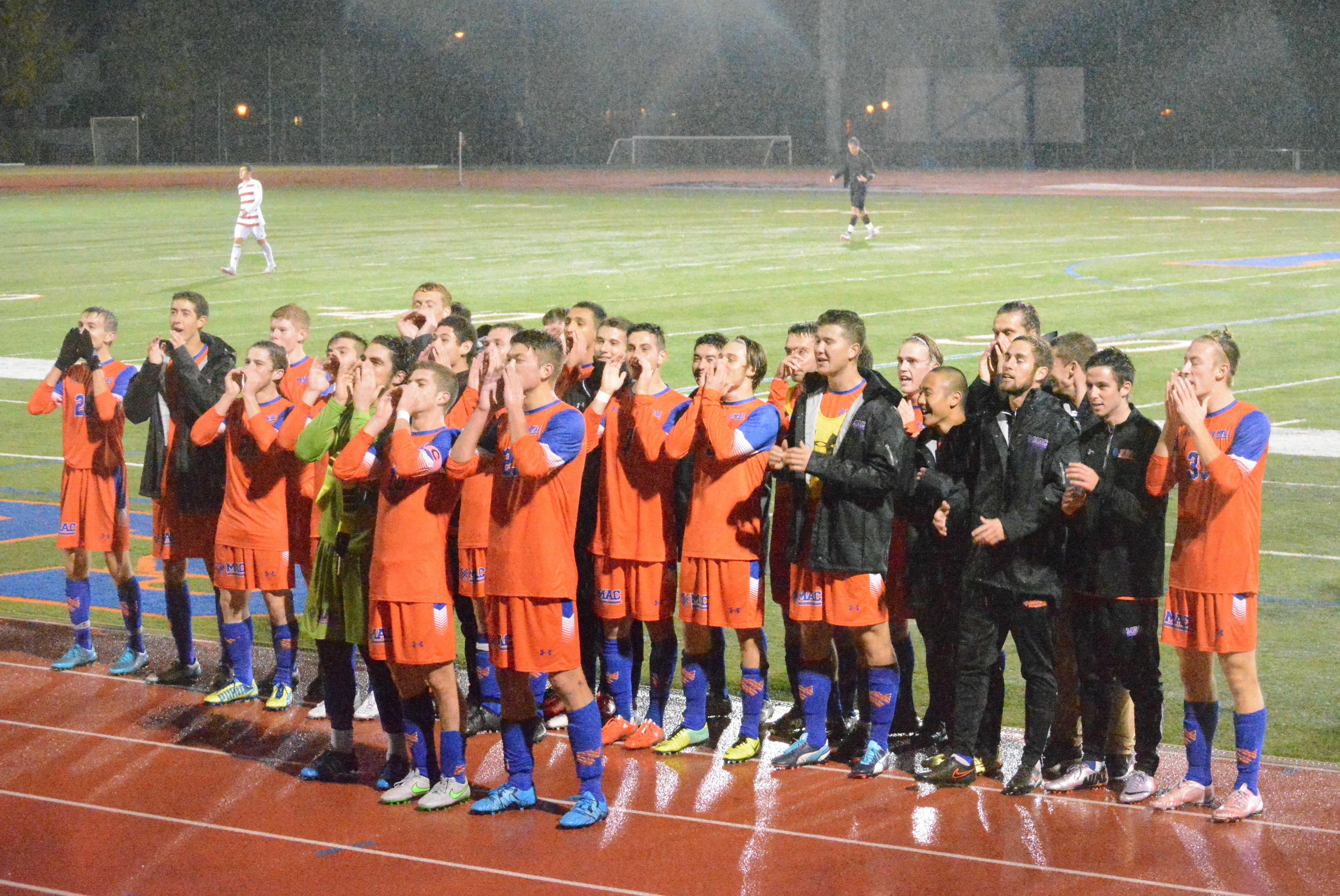Men's Soccer earns seasonal title with 2-1 win in the rain ...