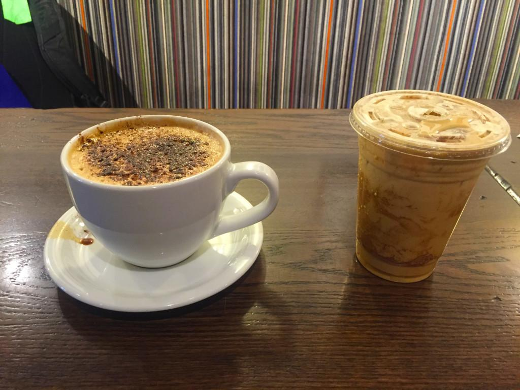 Cup of Joe with the Joes – Lattes at Grand Central: too sweet for our tastes