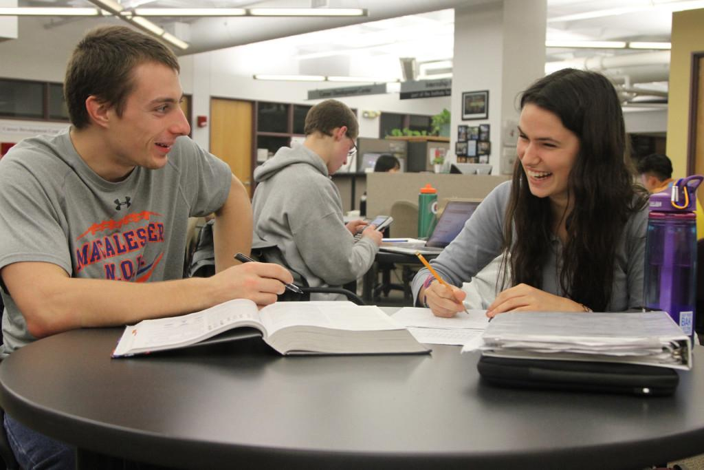 One important accommodation is peer-tutoring — students can get and give help in the MAX Center. *Photo by Henry Nieberg '19.*