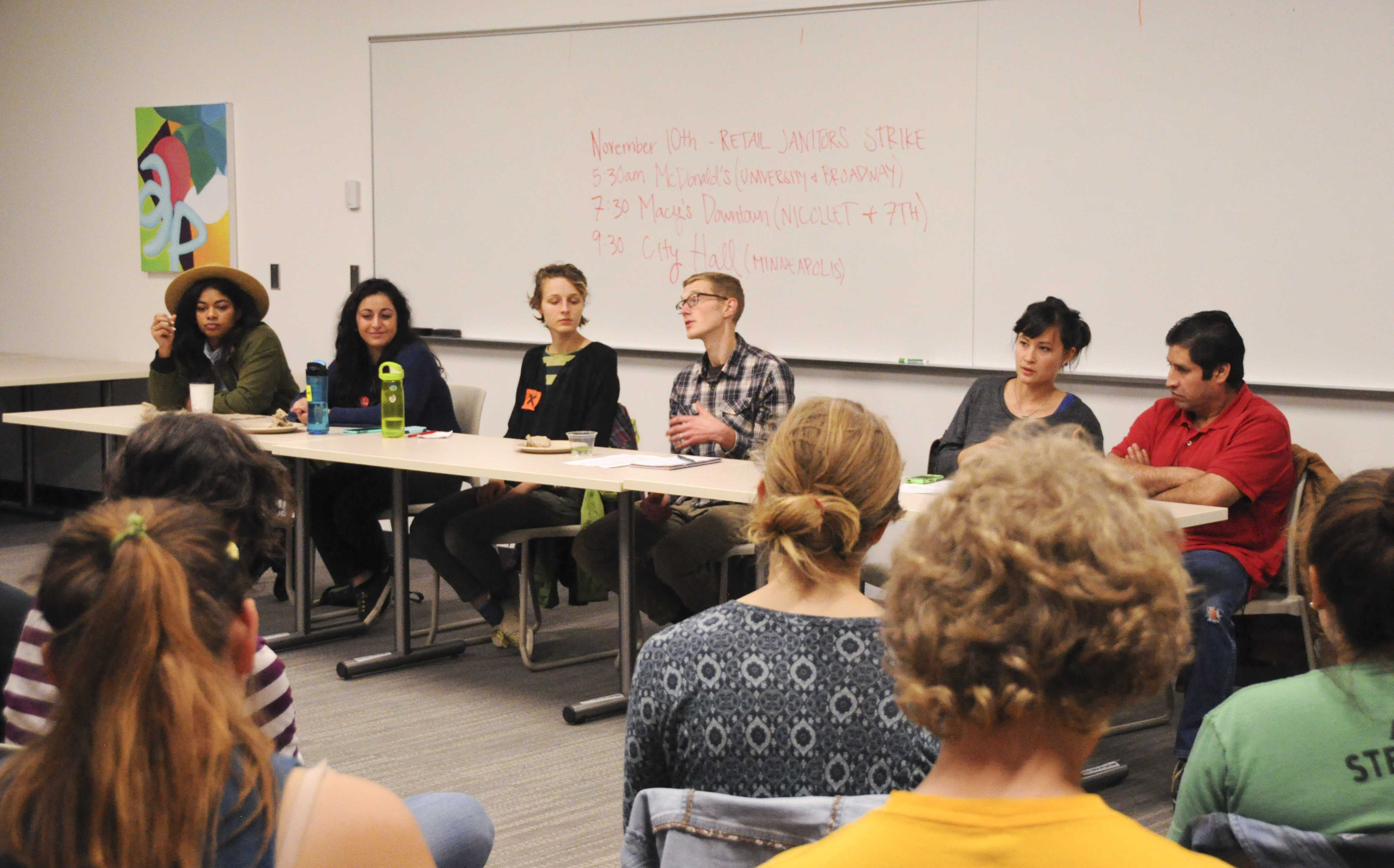 From left to right: Mica Grimm, Mahyan Sorour, Paige Carlson, Erik Kopola, Susan Kikuchi and Pascual Tapia