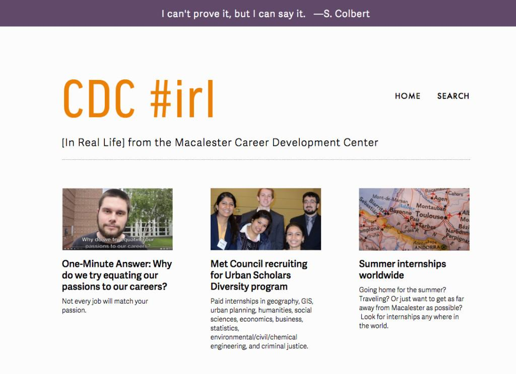 #irl: getting real about the new CDC blog and newsletter