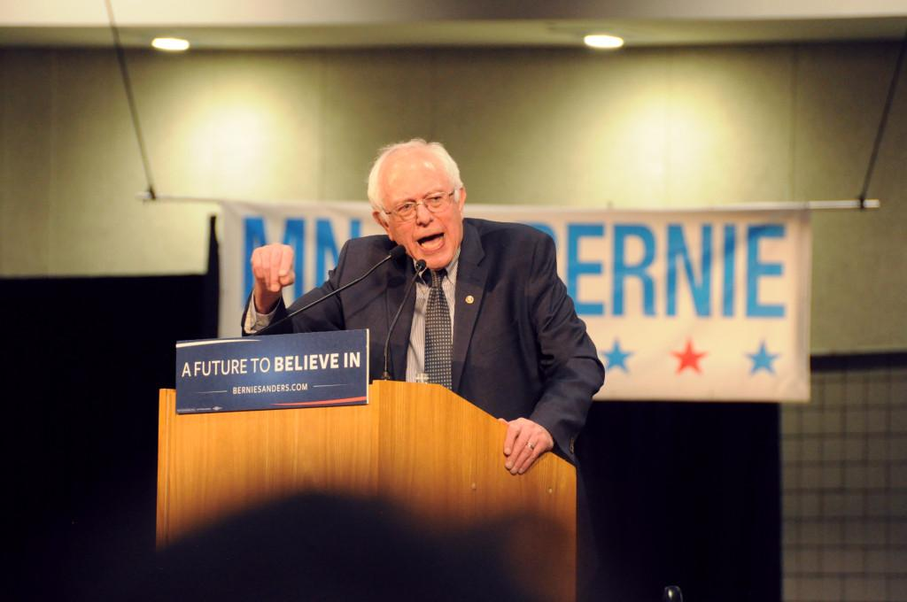 Presidential candidate Bernie Sanders hosts RiverCentre rally
