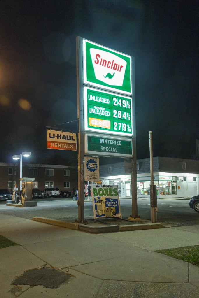 Sinclair gas station. Photo by Josh Koh.