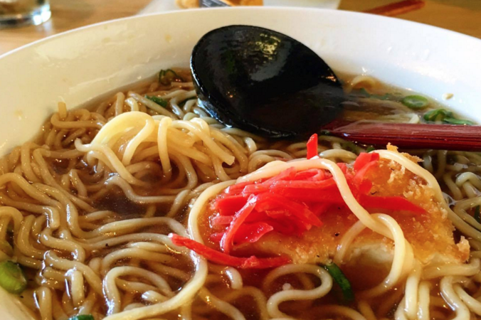 A steaming bowl of Obento-Ya ramen. Photos courtesy of Lee Guekguezian '18.