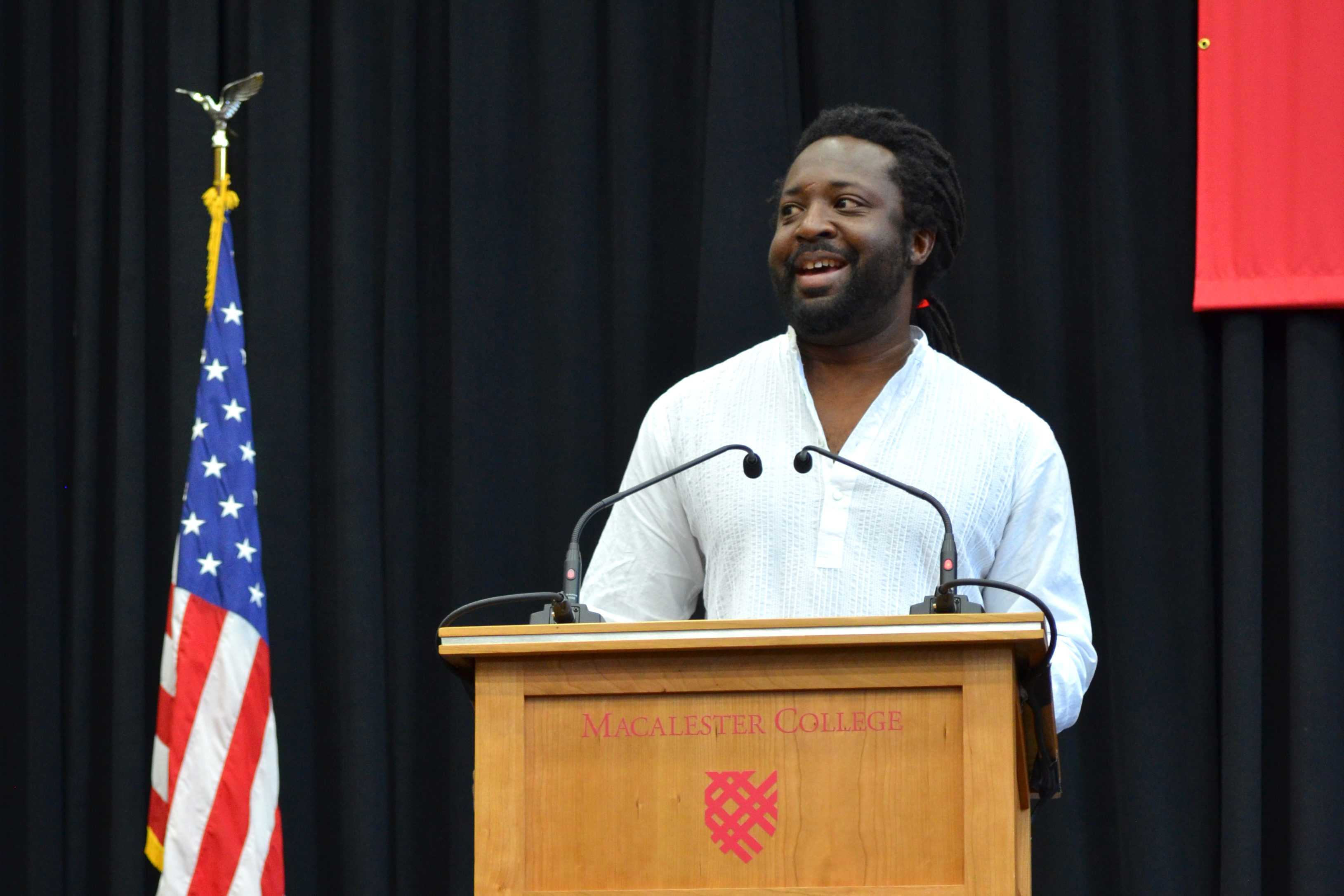 Marlon James welcomes Macalester to the 2016–2017 year