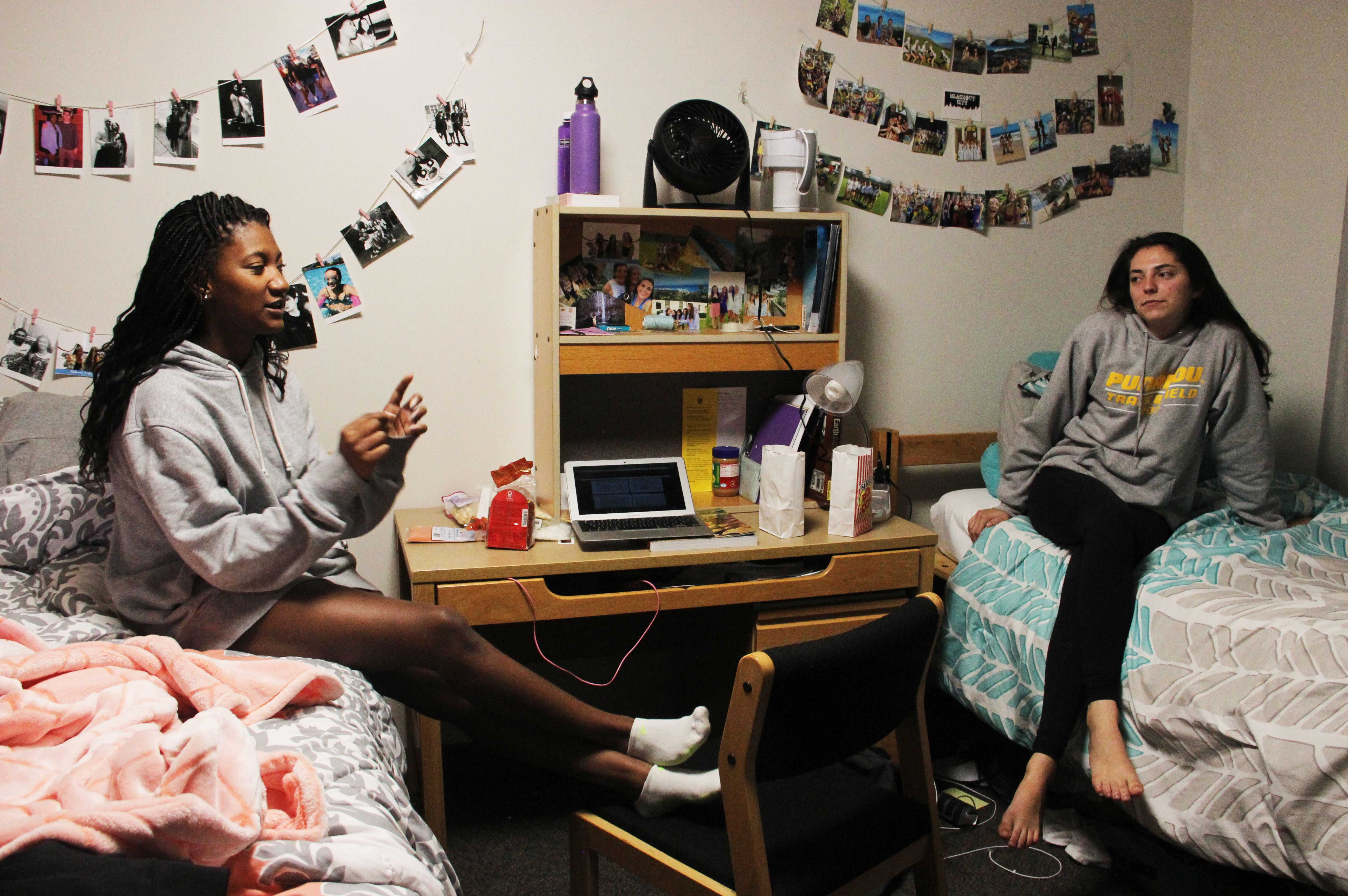 Living with a roommate can be a nerve-wracking experience! Photo by Morgan Solander '20.