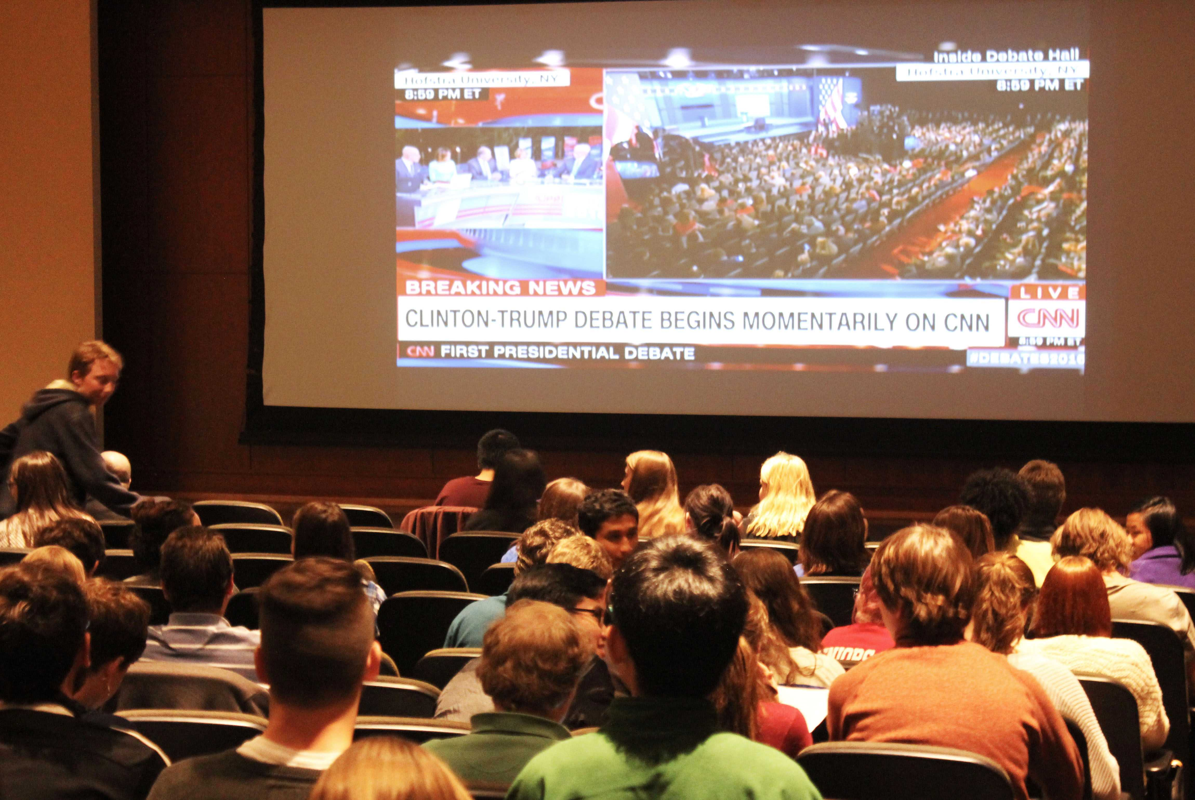 First presidential debate screening draws excited crowd