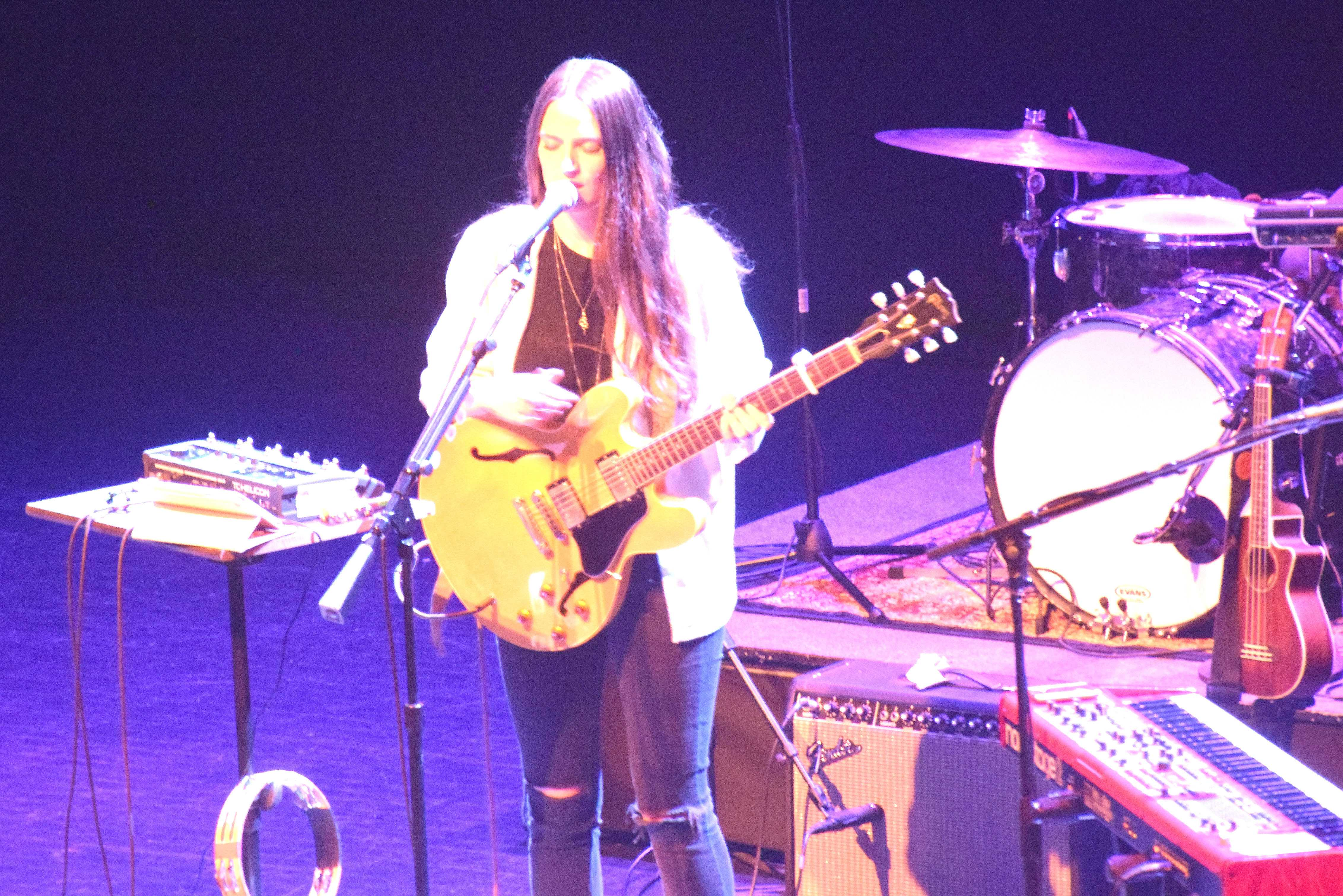 Camilla Staveley-Taylor of The Staves performs at the Fitzgerald Theater. Photo by Cameron Hill '19.