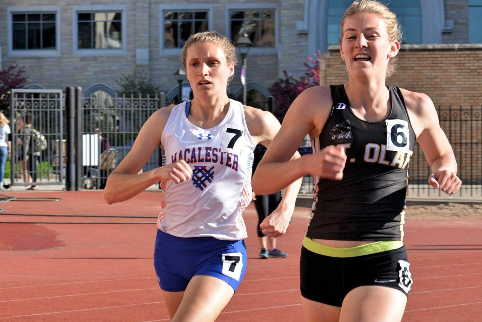 Assistant Women's Cross Country Coach Sarah Jonathan '16 holds Macalester's record for the 3,000m steeplechase. Photos courtesy of Sarah Jonathan '16.