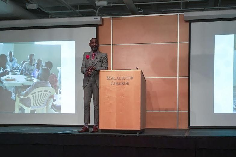 Entrepreneur Derreck Kayongo shares words of wisdom and work experiences in LCB lecture