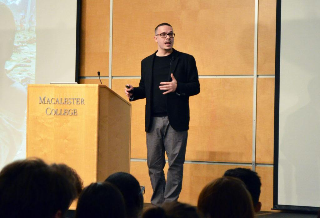 In front of packed Kagin, Shaun King delivers speech on racial violence