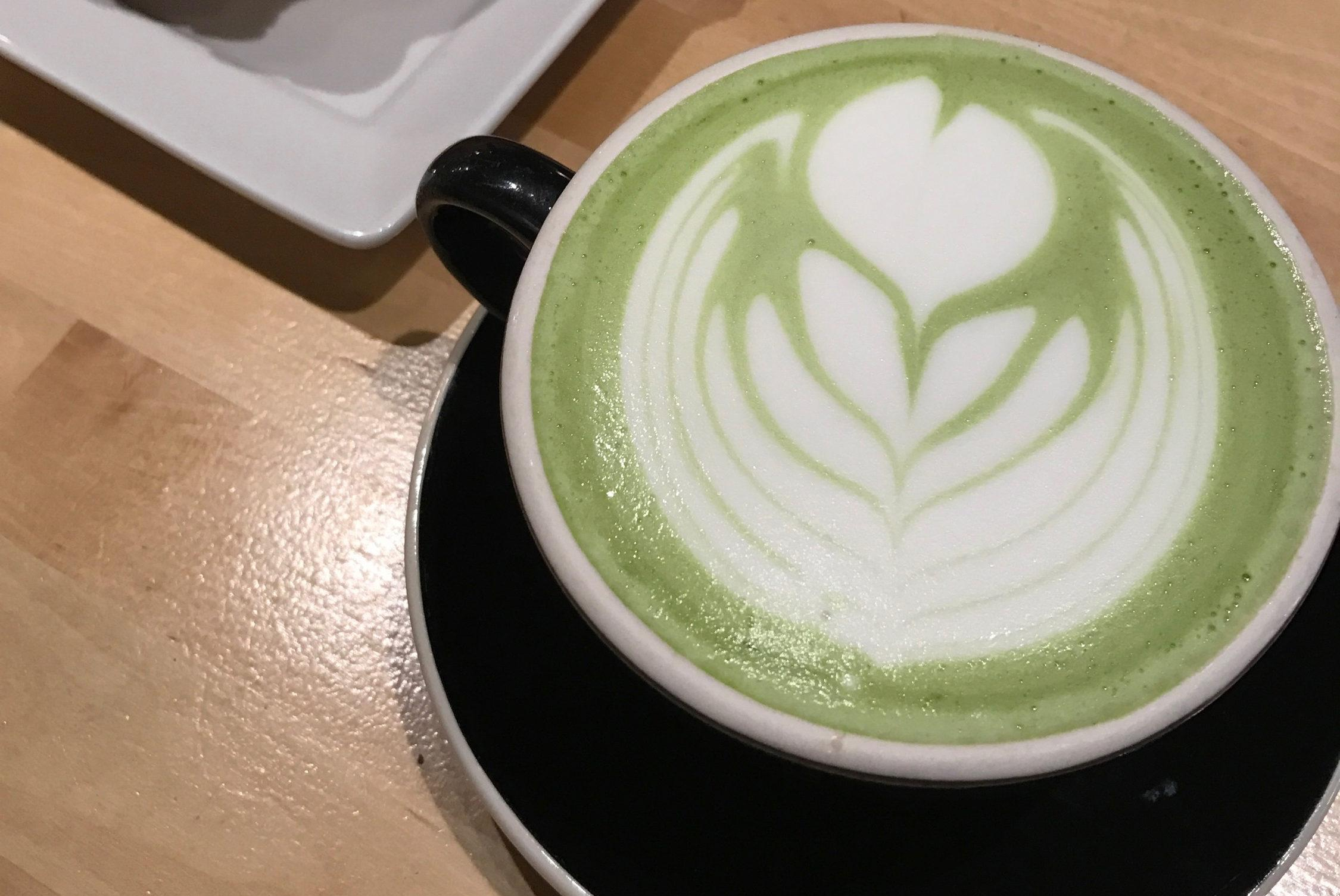 Matcha Latte with croissant. Photos by Meera Singh '19.