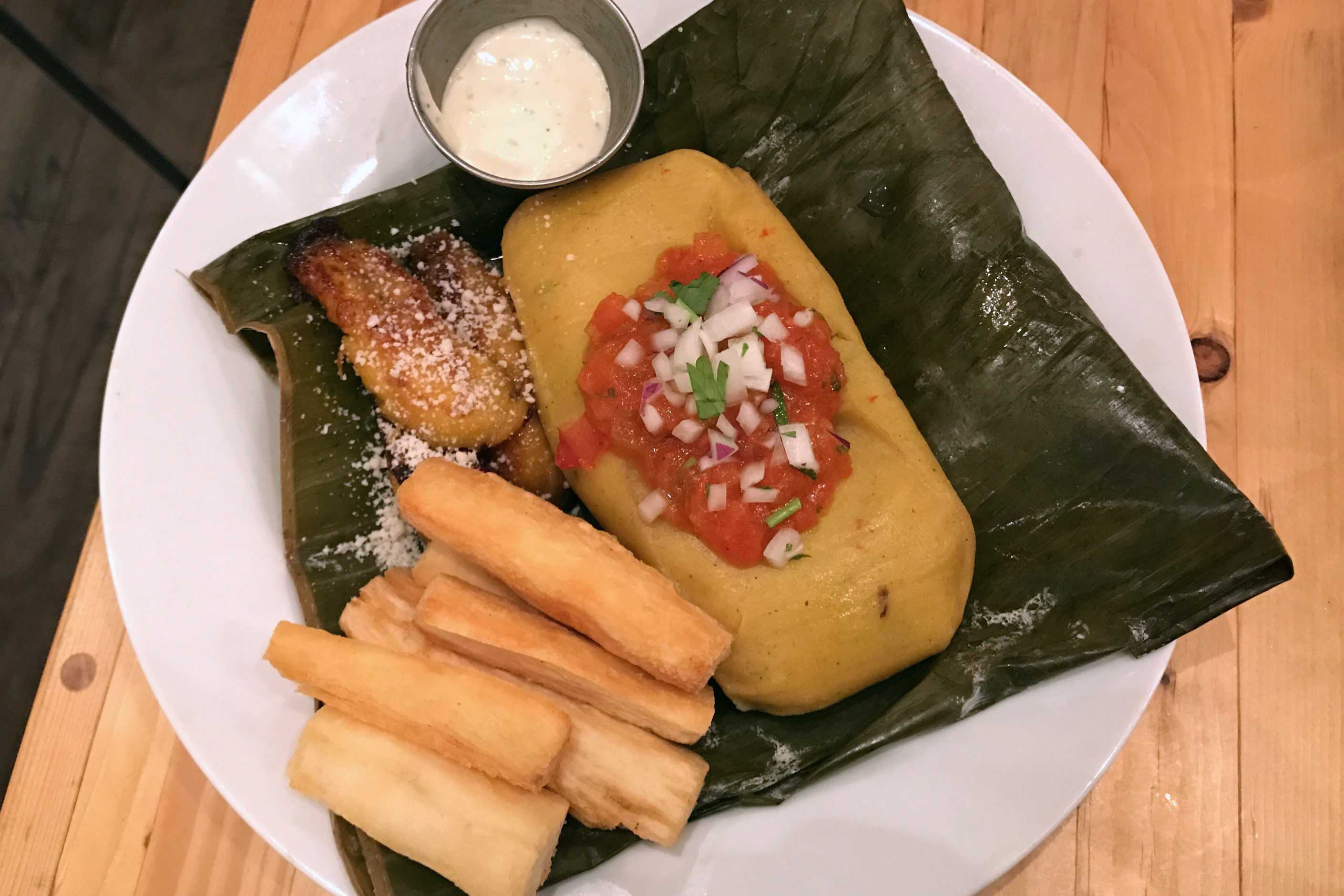 Colombian Tamale, Photo by Julia Eshaghpour '19.