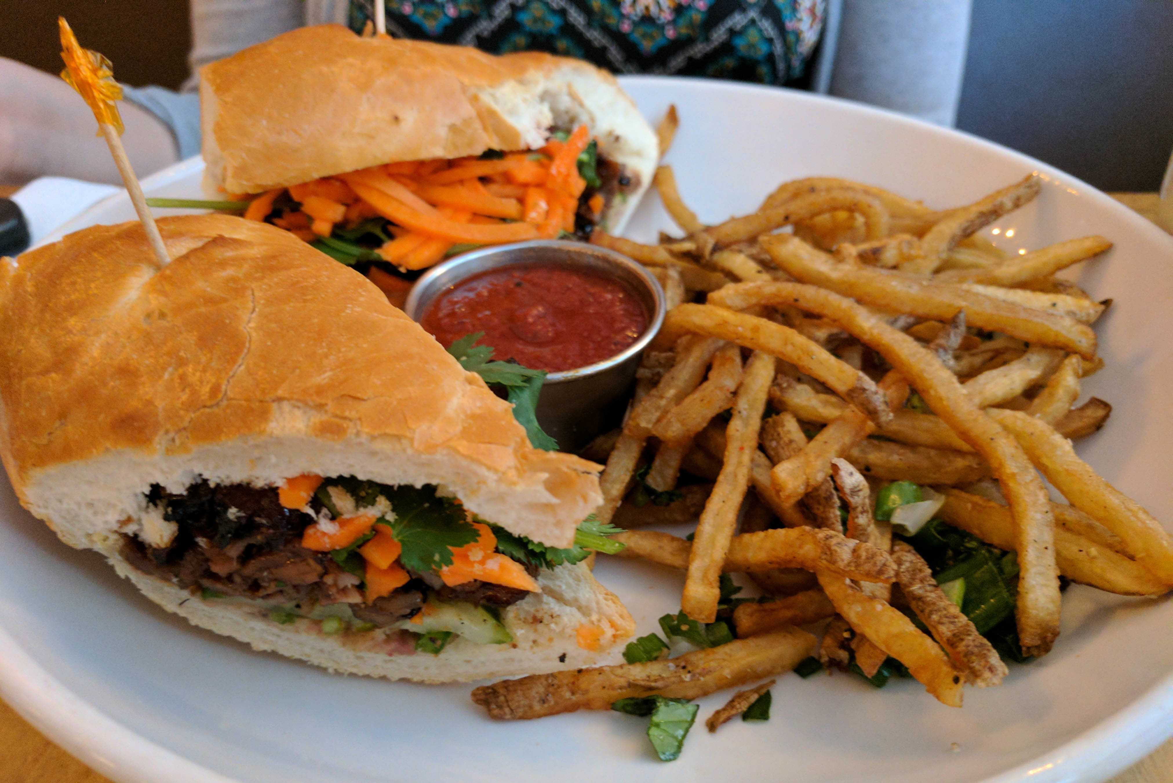 Pork Bánh Mì dish, only served during lunch hours. Photo by Henry Nieberg '19.