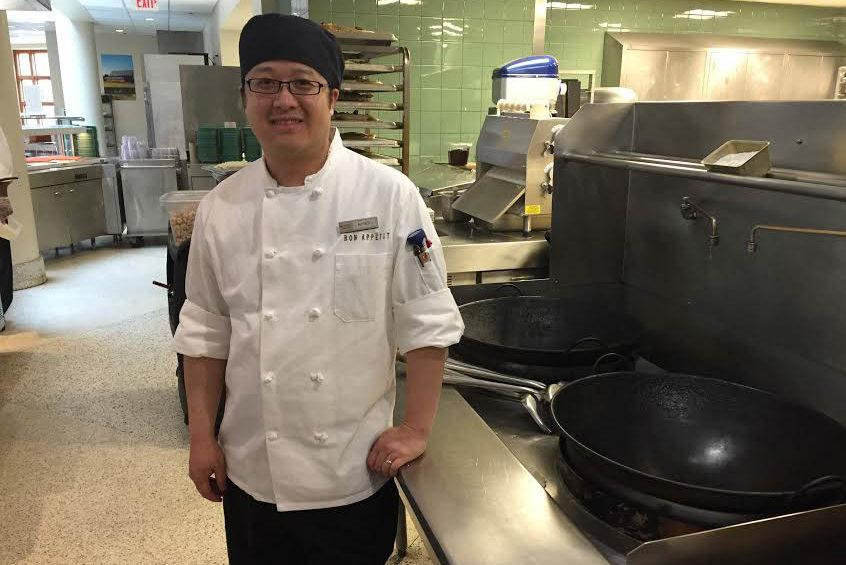 Alfred Vang, Bon Appétit Employee of the Month. Photo courtesy of Amy Jackson, Catering Director at Macalester