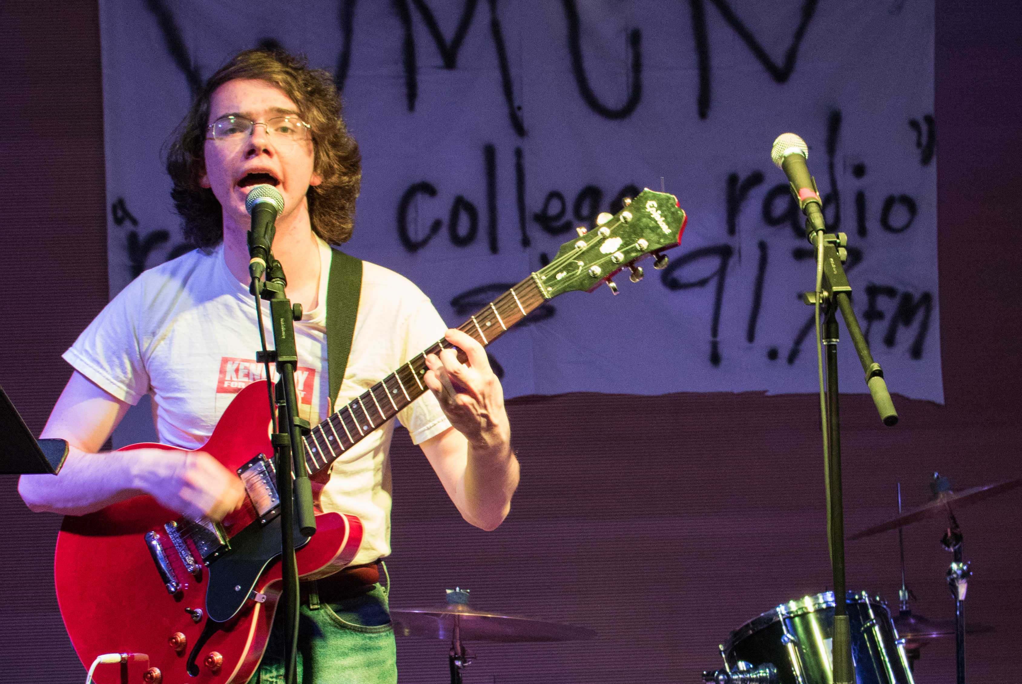 Jacques  Libresco-Puckett '19 sings and plays guitar in his solo band Jack & Co.